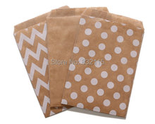 120 Small Kraft Brown Favor Bags, Glassine Candy Bags, Cookie Bags, 4 x 6 inch,24 pcs paper bags in each package