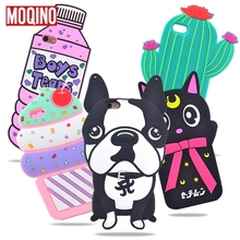 For iPhone 5 5s SE 6 6s 7 8 6P 7Plus 8Plus Cactus Pineapple Cat Dog Stitch Bottle Boys Tears Ice Cream Rose Silicone Cases Cover(China)