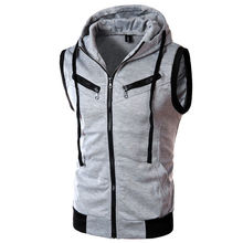 New Mens Jacket Sleeveless veste homme Winter Fashion Casual Coats Male Hooded Men's Vest men Thickening Waistcoat