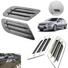 Auto Side Air Vent Fender Decoration Sticker Cover Hole Intake Grille Duct Flow
