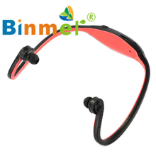 Sport Wireless Headphones Music MP3 Player TF FM Radio Headset B/G_KXL0526(China)