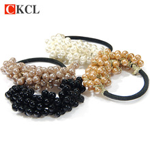 Hot Sale New Hair Accessories Pearl Rubber bands Headwear For Women Elastic Hair bands