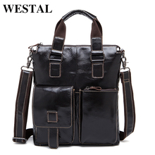 WESTAL Genuine Leather Men Bag Crossbody Shoulder Handbags Men's Messenger Bags Leather Bag New Fashion Male Handbag 259