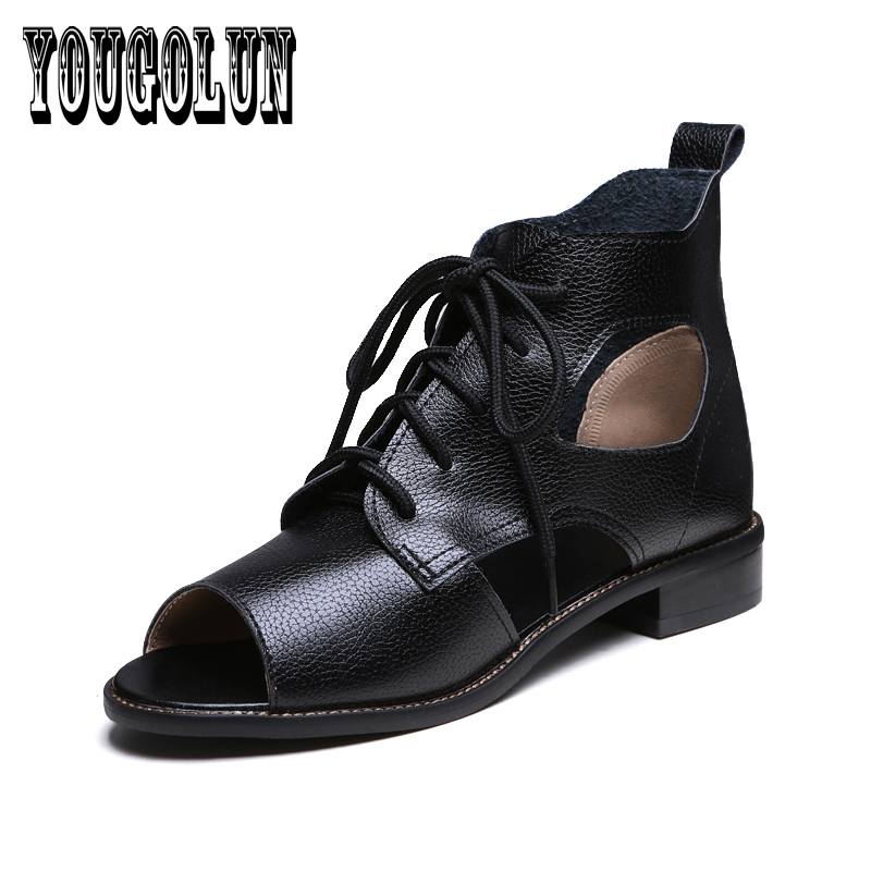 free ship Fashion casual cross lace Women Sandals boots,2017 Summer sexy open toe flats elegant Pierced ladies woman shoes<br><br>Aliexpress