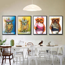 5D DIY Diamond Owl 4 Colors All Diamond Pet Embroidery 3D Cross Stitch Kit New Listing Sewing Card mosaic ZT94