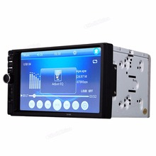 Touch Screen Bluetooth Car Stereo FM MP3 MP5 Radio Player of 7 Inch LCD HD Double DIN In-Dash + Rear View Camera(China)
