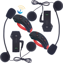 2pcs 2017 Newest BT Headset Motorcycle Helmet Bluetooth Intercom Interphone with Remote Control FreedConn(Colo-RC) High Quality(China)