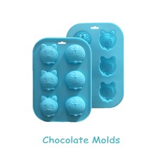 3D Carton Image,6 Hole Food Grade Silicone Chocolate, Jelly, Ice,Fondant Cake Decorating Bakeware F020(China)