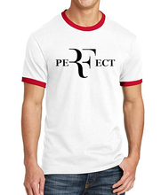2017 Summer Fashion Perfect Roger Federer RF Men T Shirt 100% Cotton High Quality Ringer Tee Shirt Slim Fit Casaul Male T-Shirts