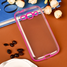 Hybrid 2 in 1 PC TPU Dual Color Transparent Back Body Case For Samsung Galaxy Star Advance G350E Cases Cover Shell