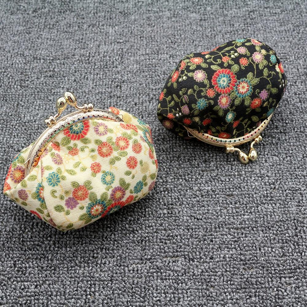 Mini Coin Purse Kiss Lock Girls  Change Purse Hasp Wallet women lady flower bags  (4)