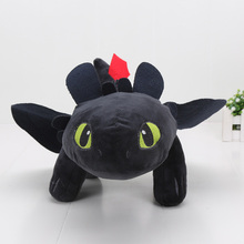 40cm 15.8'' How to Train Your Dragon Toothless Night Fury Plush Doll Soft Stuffed Toy Big Size Doll