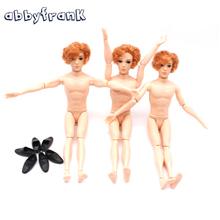 Abbyfrank 30cm Ken 14 Moveable Jointed Dolls Boyfriend Male Man Naked Body Prince Nude Doll Toy For Girls DIY Learning Toys(China)
