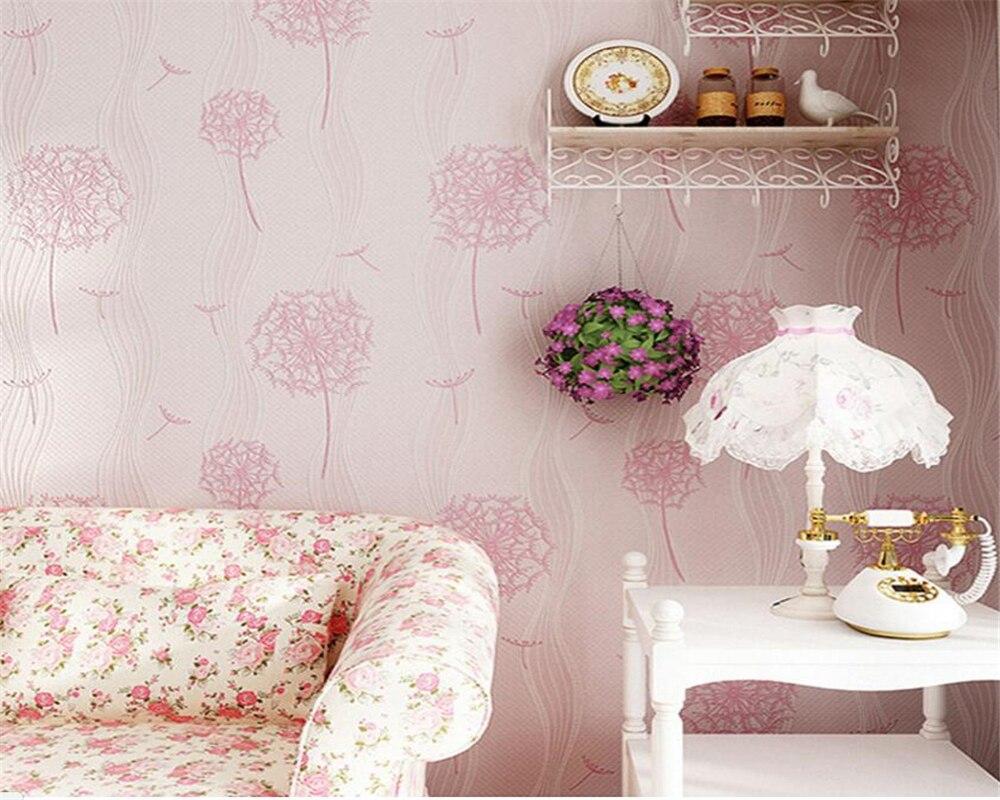 Beibehang Home decoration wallpaper modern fashion living room bedroom wallpaper dandelion children room 3d wallpaper roll<br>