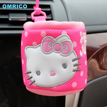 Hello Kitty Car Net for Auto Air Condition Storage Holder Container Tray Box Accessories for Lada Toyota VW BMW  Car Styling