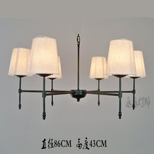 Special offer of European American country iron cloth pendant lamp dining room bedroom Pendant lights European country