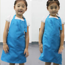 Beauty Children Kitchen Baking Painting Apron Baby Art Cooking Craft Bib New (No cap and sleeves)