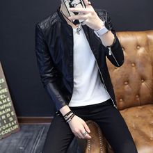 Buy 2017 Autumn Winter New Male Leather Jacket Fashion Solid PU Leather Motorcycle Jacket Stand Collar Casual Windbreaker Coat Male for $34.99 in AliExpress store