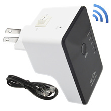 New Arrival 300Mbps Mini Wireless N Wifi Hotspot Router / Repeater / AP / Client / Bridge Modes Easy Setup with Switch US Plug