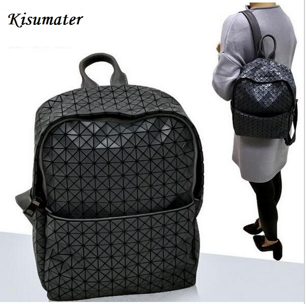 Kisumater 2017 Geometric lattic Bag Students School Bag Backpack Womens Backpack  Silicone Free Shipping <br>