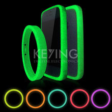 2017 Silicon Luminous Bracelet Mobile Phone Case 10 Colors Non-Slip Mobile Phones Ring for Samsung Huawei Xiaomi iPhone4 5 6 ect(China)