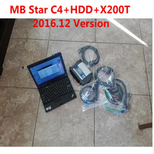 High Level New Mercedes Star Compact Diagnose MB Star C4 Connect WIFI SD With 2017.7v HDD DTS/Vediamo With X200t Laptop 4g SD C4