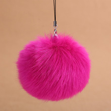 Fashion Faux Rabbit Fur Ball Pom Pom Keychain For Women Bag Charm Key Ring Trinket For Phone Car Wedding Jewelry Gift Souvenirs(China)