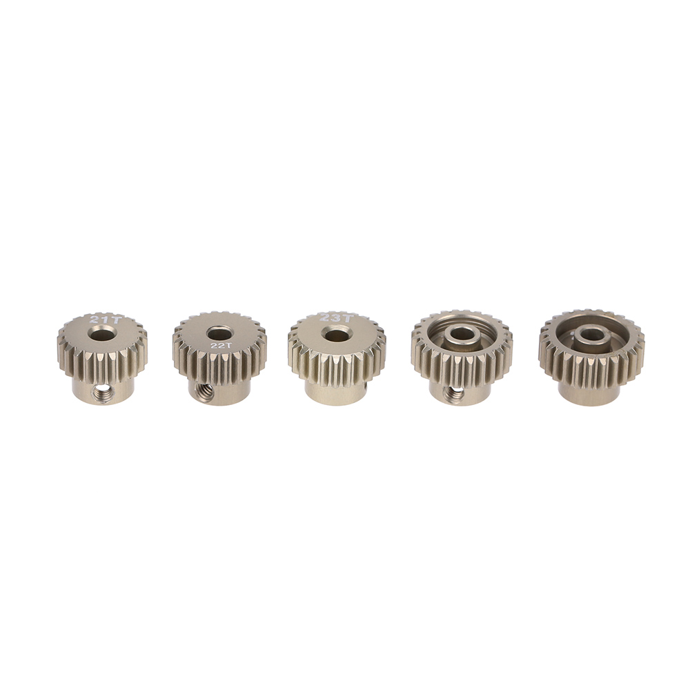 GoolRC 48DP 21T 22T 23T 24T 25T Metal Pinion Motor Gear Combo Set for 110 RC Car Brushed Brushless Motor Gears RC Model Part (1)