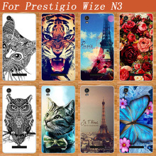 "For Prestigio Wize N3 Case Cover Hot Diy UV Painted Colored Tiger Owl Case For Prestigio Wize N3 NX3 NK3 3507 DUO 5.0"" Cover(China)"
