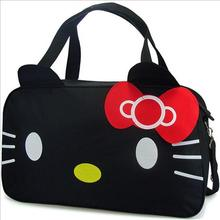 Hello Kitty clutches large casual tote travel bag women cartoon leather bow designer brand handbag bolsas femininas couro 5(China)