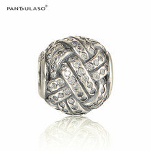 Pandulaso Soccer Sports Ball Crystal Beads For Jewelry Making Fit Charms Silver 925 Original Bracelets & Bangles DIY Jewelry