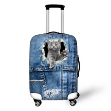 Prevent the impact to prevent scratches Cave MysteriousCute Animal pattern luggage case travel must be soft and durable non-slip