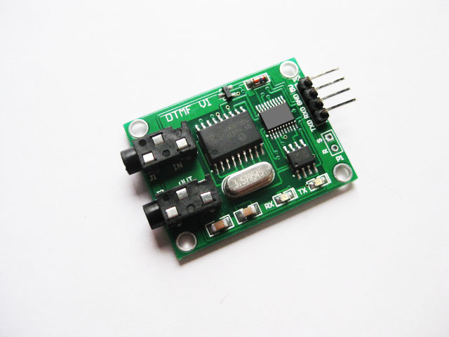 Two tone multi frequency decoder encoder DTMF audio generator once received 30 serial port data<br>
