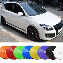 8m Tire Care Protector Wheel Hub Stickers Strip Protector For Honda Mazda Mitsubishi Subaru For Ford Benz Volvo Fiat Car Styling