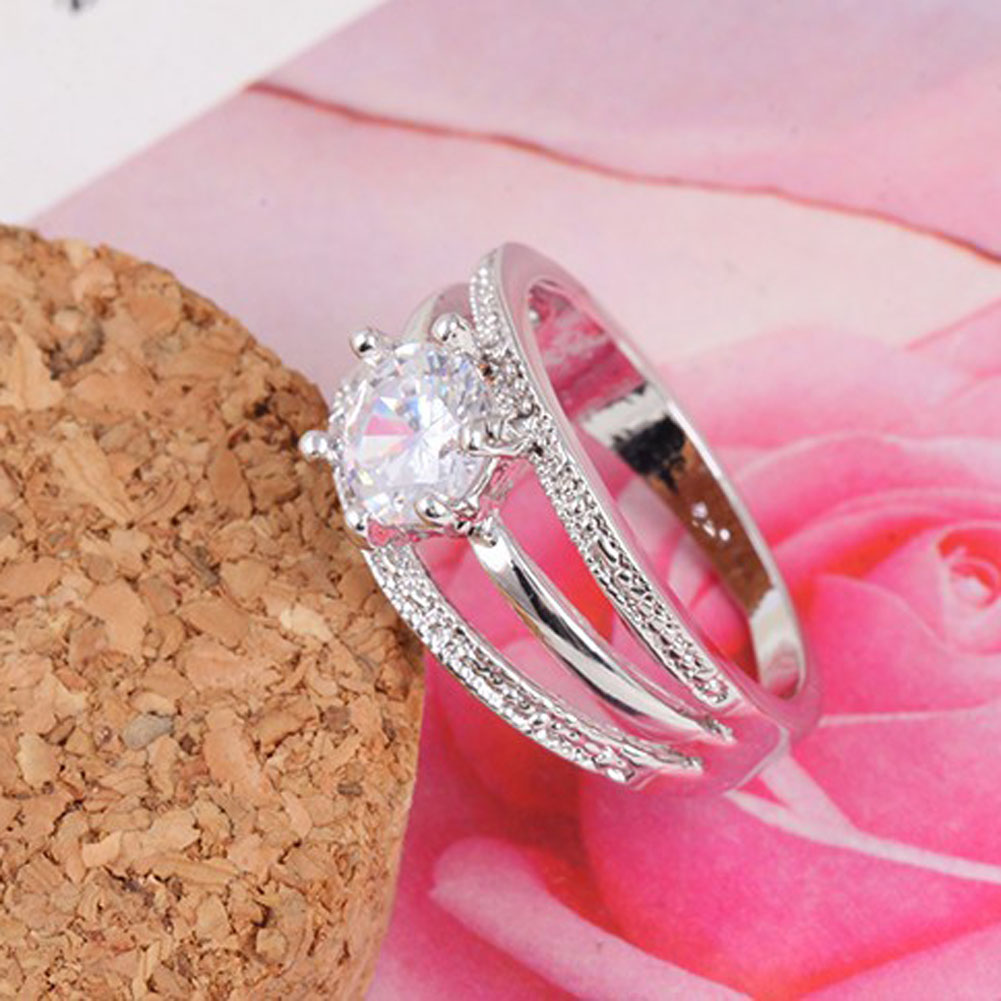 Whole SaleWomen Classic Romantic Rings Engagement Multilayer Six ...