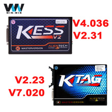 Ktag K-tag HW 7.020 SW 2.23 KESS V2 2.31 V4.036 ECU Programming Tool No Token Limit Online Master Version BDM Function Scanner