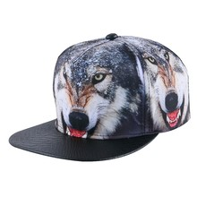 wome men hip hop snapback caps strapback hats printed style wolf sports spring summer autumn girl boy fashion baseball cap