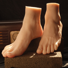 Man fake foot model real medical silicone skin texture male fake feet Foot Fetish adult products free model or for display(China)