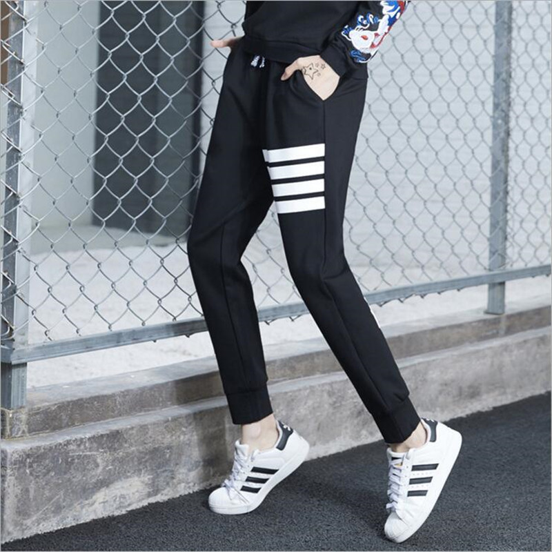 Brand Design Plus Size Sporting Trousers For Women 2017 Spring Harem Elastic Waist Pants female Hip Hop Letter Printed Capri Одежда и ак�е��уары<br><br><br>Aliexpress