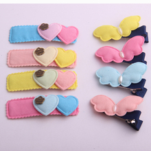 Cool Shopping ! Cute BB hairpins for gir colors heart & butterfly design hair barrettes for girls hair accessories