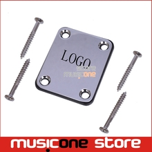 Chorme Electric Bass guitar Neck plate with FD logo,guitar Neck Joint connecting strengthen plate,Guitar parts Free Shipping(China)