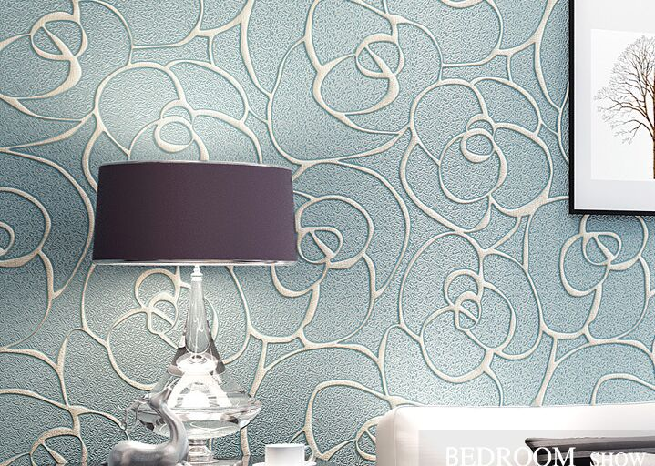 Modern Wallpaper Patterns 3D stereoscopic Wallpapers Flower Mural Non Woven Floral Wall Paper for Bedroom Living Room Walls<br>