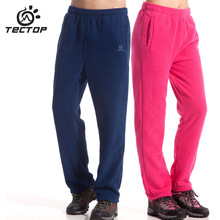 2017 Tectop hiking fleece pants men and women lovers thermal keep warm leisure trousers for outdoor camping hunting(China)
