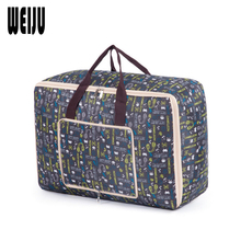 WEIJU New Folding Women Travel Bag Big Capacity Luggage Duffle Bag Foldable Storage Travel Bags Casual Portable Women's Tote