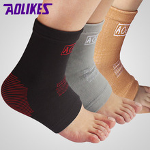 AOLIKES 1PCS Nylon Super Elastic Ankle Support Basketball Running Fitness Breathable Ankle Protect Mountaineering Brace(China)