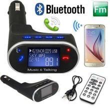 New LCD Bluetooth Car MP3 Player FM Player Bluetooth speaker phone USB charging for iphone Samsung ipod(China)