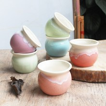 Hotsales Macarons color glazed ceramic flower pots(China)