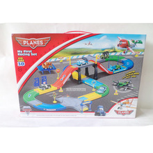 Diecast Metal Cars Pixar Track Parking Toy with 4 Cars 1 Plane and Box DIY Railway Trains Toys New Pixar as Boys Best Gift