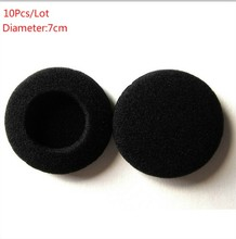 10Pcs 70mm Soft Foam Earbud Eartips Headphone Ear pads Replacement Sponge Covers Tips For Earphone Headset MP3 MP4 Of 7-7.5CM(China)