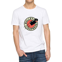 Mens Bullet Express Black Picture T-shirts Men Tee(China)